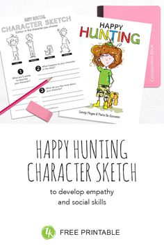 Happy Hunting: with inspirational Happy Heart Activity Children Sketch, Happy Heart, Social Skills, Colouring, The Book, Closer, Free Printables, Encouragement, Hunting