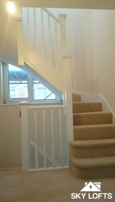 Clean and contemporary staircase up to a loft conversion