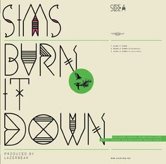 """Album cover for """"Burn It Down"""" By Sims."""