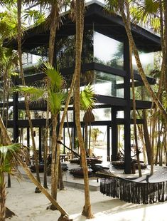 Habitas Tulum boutique hotel offers beachfront and hidden jungle rooms Riviera Maya, Cozumel, Cancun Mexico, Mexico Vacation, Mexico Travel, Piscina Do Hotel, Casa Hotel, Hotel Safe, Jungle Room
