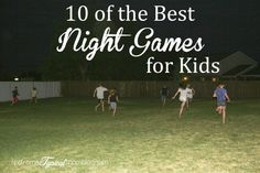 10 of the best Summer Outdoor Night Games for Kids and Teens. #games #summer #kids #teens #Parties