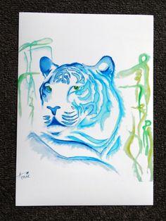 Animal Art Print-Tiger Print-Watercolor Tiger Print-Great Gift For Animal Lovers Or Nursery Decoration Wall Art-Signed Print of Original Art by ArniesArtwork on Etsy