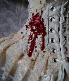 Victorian vampire neck corset by MyWitchery on Etsy