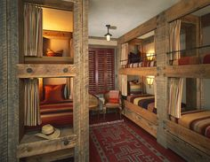 bunk rooms - great for a mountain home