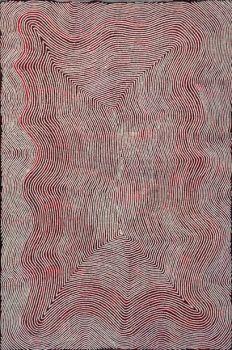Art aborigene Warlimpirrnga Tjapaltjarri - Tingari - 2005 - 120x180 cm - Acrylique sur toile