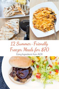 12 Summer Friendly Freezer Meals for $70 from 5DollarDinners.com