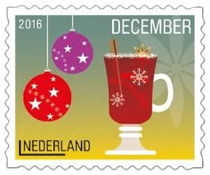 Glühwein en kerstballen #Decemberzegels2016
