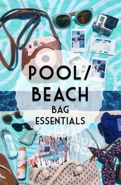 Summer is here, to celebrate I'm sharing pool/beach bag essentials + photo ideas and essentials.