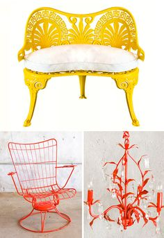 spray painted metal furniture
