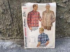 40's Simplicity 1961 Pattern Men's Shirt - Size Medium 38-40 by ElkHugsVintage…