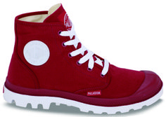 Palladium The Blanc Ox Sneaker in Rio Red /& White