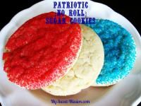Patriotic {No Roll} Sugar Cookies