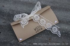 English Country Garden Wedding Invitation- Rustic Card with Lace  Bunting. on Etsy, $10.12