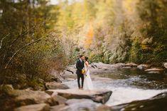 North Carolina Mountainside bride/groom wedding pictures