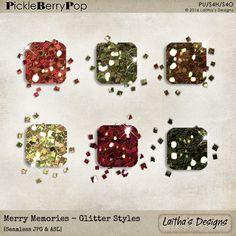 Merry Memories - Glitter Styles By Laitha's Designs