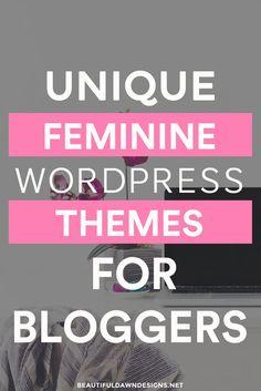 Feminine WordPress Themes for Bloggers. Affordable WordPress themes.