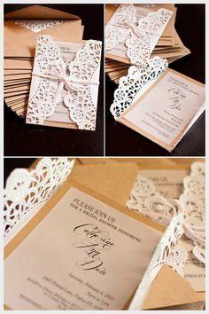 Wedding Ideas, DIY Unique Vintage Wedding Invitations: diy wedding invitations ideas