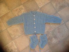 Trøje og sokker..strikket af mormor til Tommy ..str. 60, tror jeg