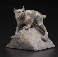 """""""Vantage Point"""" (mini) - bobcat sculpture by ROSETTA Bronze Sculpture, Sculpture Art, Sculpture Ideas, Long Cat, Clay Animals, Animal Sculptures, Art Deco Design, Big Cats, Cat Art"""