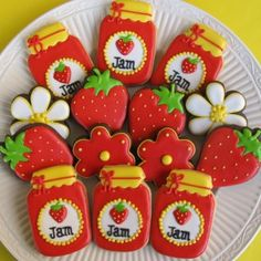 Strawberry jam cookies by The Cookie Loft Girls