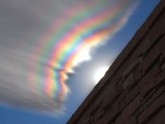 An interesting rainbow effect:  Some call it a fire rainbow