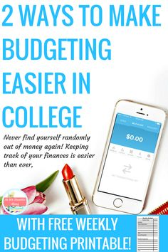 2 ways to make budgeting in college easier- are you tired of not knowing exactly how much you have, and constantly worrying if you're keeping track correctly? There's two simple steps to make budgeting in college so much easier, and how to win $1000 for your spring break trip! Get your college budget in gear. #sp