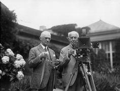 On July 30, 1928 - George Eastman held a party to introduce Kodacolor film to a group of impressive guests. See the rare color footage of Thomas Edison cranking an early motion picture camera - amazing!