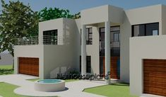 Modern 4 bedroom house plan with pictures features 4 garages. Browse modern double storey house plans pdf and 4 bedroom double storey house plans for sale. Two Story House Design, 2 Storey House Design, Two Story House Plans, Two Storey House, Country House Plans, Modern House Plans, Modern House Design, Southern Living, Bungalow