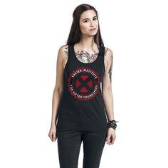 "Top donna nero ""Xavier Institute"" di #XMen."