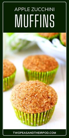 Apple Zucchini Muffins is a healthy kid-friendly breakfast idea that adults will also sure to approve too! These whole wheat zucchini muffins are easy to make and freezes well too. It is the perfect treat to use up that summer zucchini! Save this pin for later! Easy Breakfast Muffins, Breakfast Bread Recipes, Apple Breakfast, Breakfast Bake, Healthy Muffins, Snack Recipes, Cooking Recipes, Snacks, Muffin Recipes