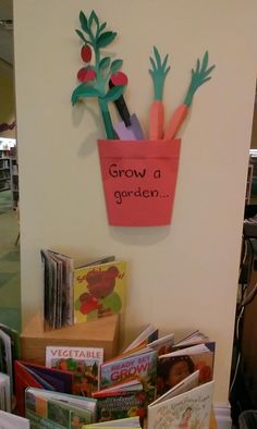 Dig Into Reading Garden Display With Garden Books Summer Reading Library Book Displays