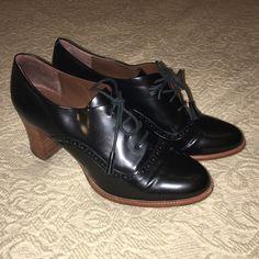 Carlo Pazolini Shoes - Beautiful Italian Leather Oxford Chunky Heals