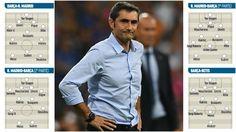 FC Barcelona: Los dibujos de Valverde | Marca.com http://www.marca.com/futbol/barcelona/2017/08/22/599c220be5fdea2c138b45d1.html