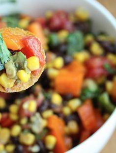 Baja-Cali Black Bean Salad - Colorful, Flavorful, Delicious! 5DollarDinners.com