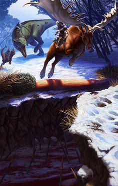 Comunidade Steam :: ARK: Survival Evolved Megaloceros You shall be mine. Fantasy Creatures, Mythical Creatures, Evolve Wallpapers, Game Ark Survival Evolved, Jurassic Park World, Extinct Animals, Dinosaur Art, Prehistoric Creatures, Fantasy Artwork