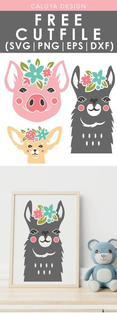 cricut crafts Floral Headset Animals SVG, PNG, EPS & DXF by Caluya Design. Compatible with Cameo Silhouette, Cricut and other major cutting machines!Perfect for your DIY projects, Giveaway and personalized gift. Perfect for Planner customization! Arts And Crafts Projects, Vinyl Projects, Cricut Vinyl, Vinyl Decals, Wall Stickers, Wall Decals, Wall Art, Planner Stickers, Free Printable Clip Art