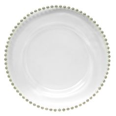 """13"""" Turkish Glass Beaded Charger Plate (Set of 4)"""