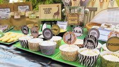 La Selva: Wrappers y Toppers para Cupcakes para Imprimir Gratis.---- http://www.ohmyfiesta.com/2014/10/la-selva-wrappers-y-toppers-para.html