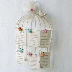 Birdcage Wedding Table Plan Card Holder  by Beautiful Day