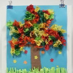 papier collage arbre