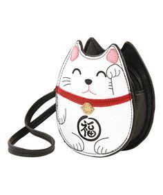 Look what I found on #zulily! White Lucky Cat Wristlet #zulilyfinds
