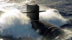 US Navy Ohio-class ballistic missile submarine.