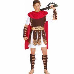 New Adult Men Fancy Dress Roman Brave Warrior Hercules Soldier Gladiator Arm Guard Cosplay Costume Halloween Makeup Party