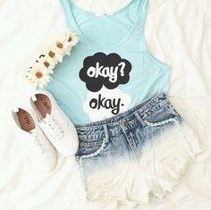 TFIOS   Teen Fashion   Tumblr... the okay's look too happy:(