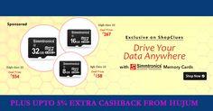 Get Upto 59% Off on Class 10 Memory Cards Plus Upto 5% Extra Cashback from Hujum.com #ShopcluesCoupons #ShopcluesCashback #Class10MemoryCards