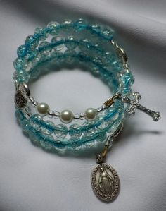 5 Decade Rosary Bracelet by AllToolsPrayerful on Etsy.  Shop for 1st Communion and Confirmation Rosaries for young and adult. Custom requests also accepted.    Visit AllToolsPrayerful for many Christian products.