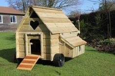 Designed with effortless mobility in mind Duck House, Hens, Outdoor Structures, Chicken, Design, Cubs
