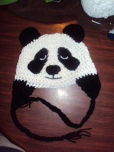 Free Crochet Panda Hat Pattern.