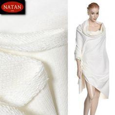 Dzianina dresowa bawełniana cotton Ekri Spugna 200cm.