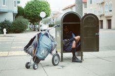 mailman on his break